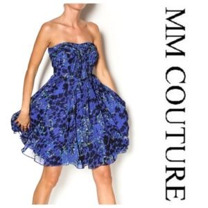 [MM Couture] Printed Strapless Dress